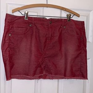 Vintage Red Corduroy Skirt
